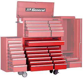 13 drawer industrial quality roller tool chest - Tool Cabinets
